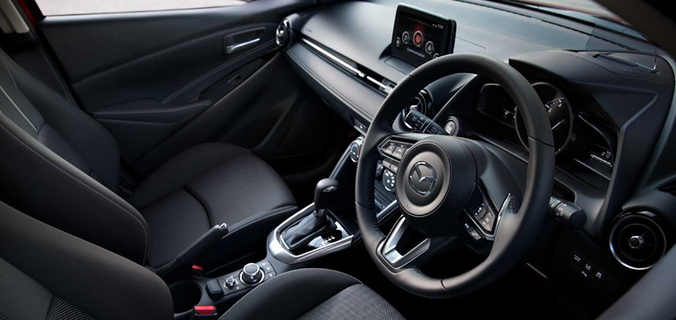 Can you guess the Mazda model from the interior?