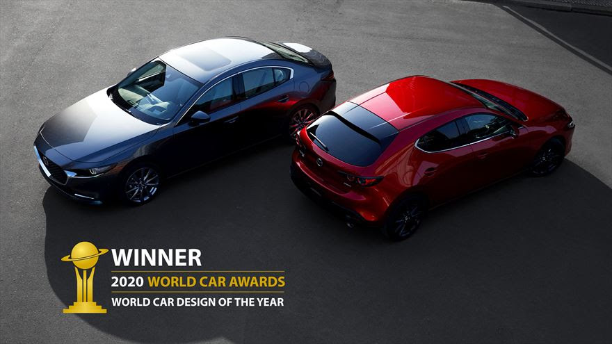The Mazda 3 has won the 2020 World Car Design of the Year award